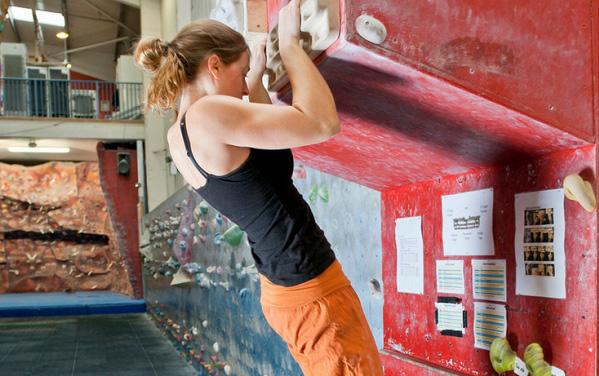 Trening na trening deski za plezanje