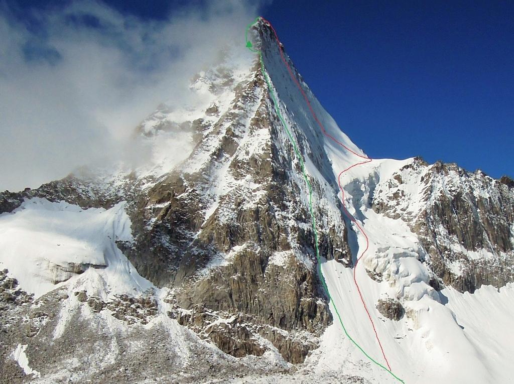 Jang Tsang Go (6300 m) z vrisano prvo smerjo vzpona in sestopa