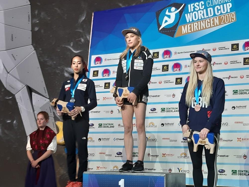 Janja Garnbret zmagovito v predolimpijsko sezono (foto Urh Čehovin)